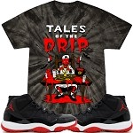 TALES DRIP - TYE DYE Black w/ Red